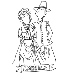 national costume for america vector image