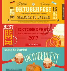 oktoberfest beer festival banners set vector image vector image