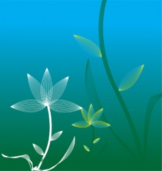 stylish flower vector image