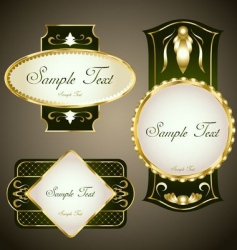 gold framed labels set vector image vector image