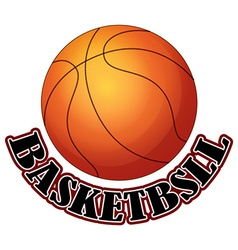 Logo design with basketball vector image