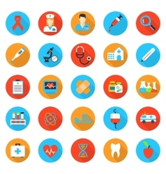 Medicine and health care flat icons vector image vector image