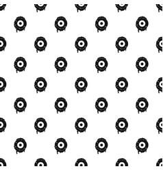 Scary eyeball pattern vector