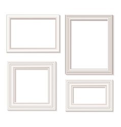 White picture frames vector image vector image