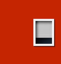 Window on a red wall vector image vector image