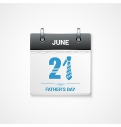 fathers day date design background vector image