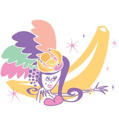 Las Vegas Showgirl signs vector image vector image