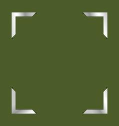 photo frame green vector image
