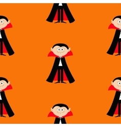 Seamless Pattern Count Dracula Cute cartoon vector image vector image