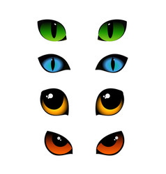 set of cat emotions eyes in vector image vector image