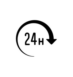 24 hours icon or twenty four hour symbol vector image