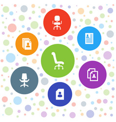 7 employment icons vector