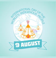 9 august indigenous people vector