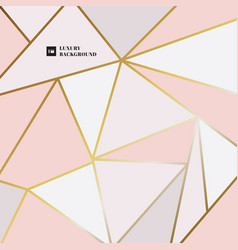 abstract elegant geometric triangle pink gold vector image