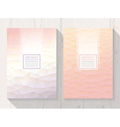 Abstract polygonal with square text peach vector