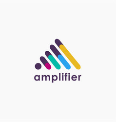 Abstract sound amplifier tunnel logo icon vector