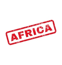 Africa Text Rubber Stamp vector image