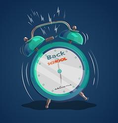 alarm clock back to school 1 vector image