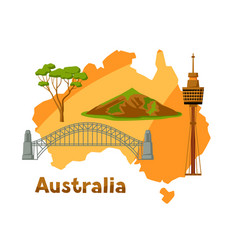 australia map with tourist vector image