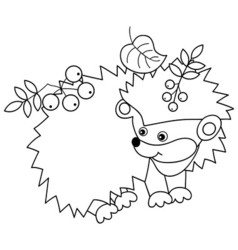 Black And White Hedgehog vector
