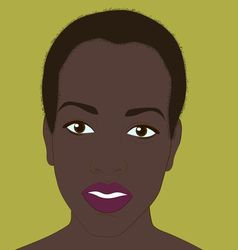 Black girl on a background of pistachio vector