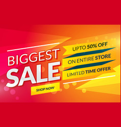 Bright sale banner for marketing and promotion vector