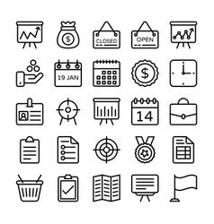 business and office line icons 17 vector image