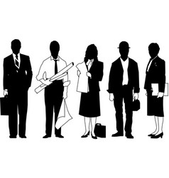 business people silhouette business people group vector image