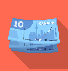 canadian dollar canada single icon in flat style vector image