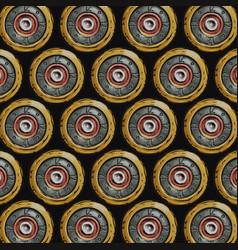 Cartoon shotgun shells back view vector