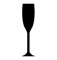 champagne glass dark silhouette vector image