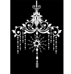 Chandelier design vector