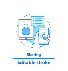 content sharing concept icon vector image