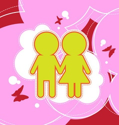 couple background design vector image