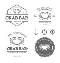 Crab logo set vector