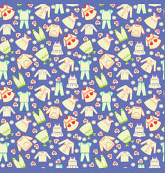 cute background collection of baby and children vector image