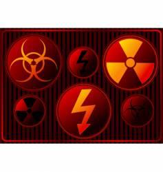 Danger signs vector