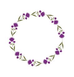decorative floral crown icon vector image