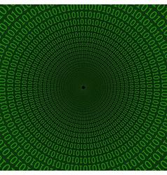digital tunnel matrix style vector image