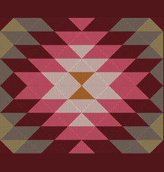 Ethnic geometric ornament kilim turkish woven rug vector