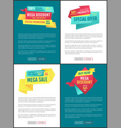 Exclusive sales and discounts vector