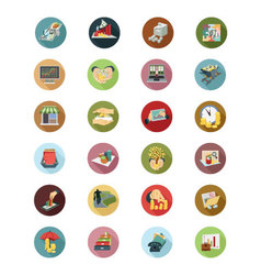 Financial Flat Icons 5 vector