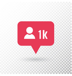 Follower notification social media icon user vector