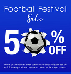 Football festival sale background vector
