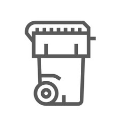 garbage can line icon vector image
