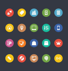 Glyphs Colored Icons 4 vector