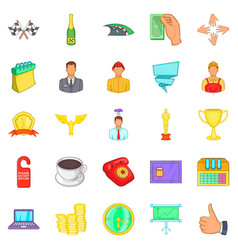 Governance icons set cartoon style vector