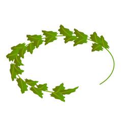 green wreath icon isometric style vector image
