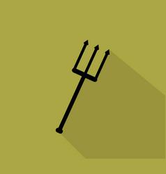 halloween fork icon vector image