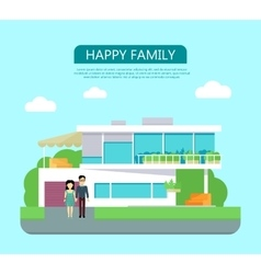 Happy family concept in flat design vector
